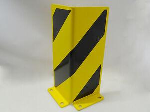 Anfahrschutz aus Stahl, 5 mm / Winkelprofil / 400 x 160 x 160 mm / gelb/schwarz