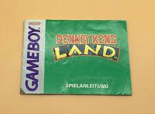 Original Anleitung / manual zu dem Gameboy Spiel Donkey Kong Land