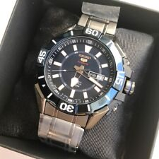 SRP797J1 Automatic Blue Day & Date Dial Grey Steel Made in Japan Watch