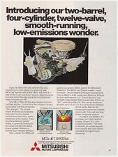 Original 1978 Mitsubishi Motors Corp MCA-Jet System Engine Vintage Print Ad