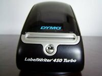 #S6C Dymo 450 Turbo Label Thermal Printer W/Test Prints No Adapter Nor Cables