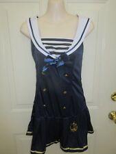 Leg Avenue Navy Blue White Gold Sailor Dance Costume Medium Adult MA