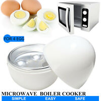 4 Egg Boiler Cooker Cup Poacher Steamer For Microwave Breakfast Kitchen Maker