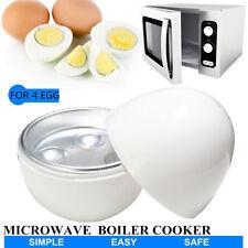 4 Egg Boiler Cooker Cup Poacher Steamer For Microwave Breakfast Kitchen Maker
