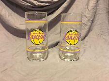 Los Angeles Lakers Vintage 12oz Glassss Set Of 2 NBA Basketball Kobe Magic