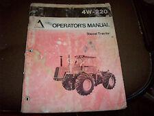 Original Allis-Chalmers 4W-220 Diesel Tractor Operator's Manual