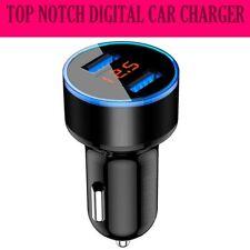 Cargador de Coche Doble Pantalla Digital USB de 2 puertos de doble teléfono chargin rápida de alta velocidad