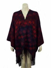 91536- Ladies Red/Multi Poncho/Wrap One Size- Great Price!