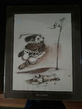 """""""SELF CONTROL"""" ART PRINT BY GARY PATTERSON~Pre Owned Golf """"Vintage"""" 1975"""
