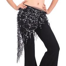 Belly Dance Hip Skirt Scarf Wrap Gem Waist Belt Beads Sequin Tassles Scarf TBUS