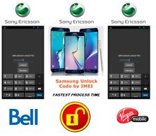 BELL / VIRGIN UNLOCK CODE FOR SONY PHONE ANY CANADIAN MODEL