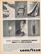 PUBLICITE ADVERTISING 025 1964 GOODYEAR pneus le G 800