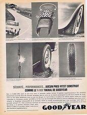 PUBLICITE ADVERTISING 025 1964 GOODYEAR pneus le G 800