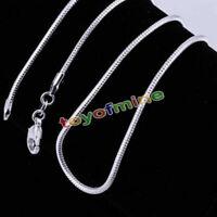 Damen Silberkette 2mm Schlangenkette Sterling Silber pl. 5 Längen NEU