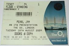 PEARL JAM - Live Concert Used Ticket Stub O2 London 18 August 2009