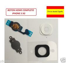 KIT 4 en 1 Boton Home Flex chapa pegatina fijación iPhone 5 BLANCO