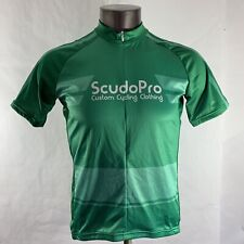 ScudoPro Cycling Jersey Mens L Large Short Sleeve Custom Clothing Athletic Green