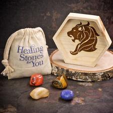 Healing Stones for You: Leo Zodiac Crystals with Handmade Zodiac Dish