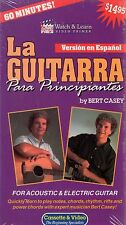 La Guitarra Para Principiantes Bert Casey Acoustic & Electric Guitar NEW