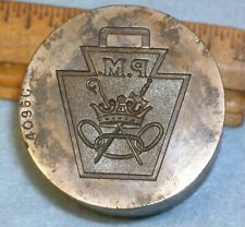 Antique ODD FELLOWS PATRIARCH MILITANT WATCH FOB Stamping Die * MC LILLEY