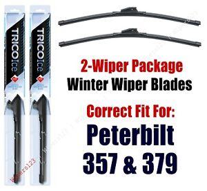 WINTER Wiper Blades 2pk Premium fit 1987-2008 Peterbilt 357 379 - 35180x2