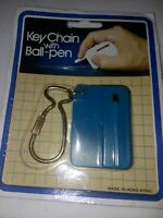 Vintage Keychain with Ball-pen New Sealed Package Pocketbook Purse Writing Pen