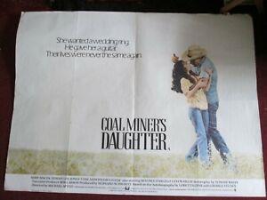 Coal Miner's Daughter(1980) Quad Cinema Film Poster Tommy Lee Jones Sissy Spacek