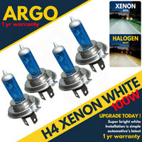 4x H4 100w Xenon Headlight Bulbs Super White 472 Bright Car Upgrade Bulb 12v
