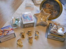 Lot of 5 ANGEL Wall Clock Figures Picture Frame Christmas Ornament Guardian NEW