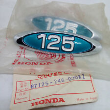 HONDA CB125 Twin CB125T Side Cover Emblem NOS Genuine  Blue Pair 87125-246-020AZ