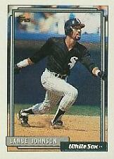 1992 Topps Lance Johnson White Sox 736 Baseball Card