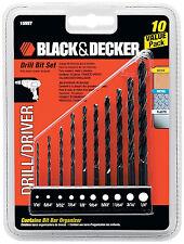 Black & Decker 10PC Drill Bit Set, 15557