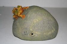 CROAKING Frogs on Stone - Garden Ornament - Motion Sensor - Security - Xmas Gift