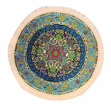 1 12 Scale Round Woven Turkish Rug Dolls House Miniature Carpet 1649 Blue (c)