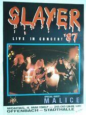 SLAYER  1987  OFFENBACH -- original. Concert Poster  --  Konzert Plakat A1  NEU