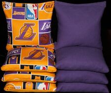 LA LAKERS All Weather Resin CORNHOLE BEAN BAGS NBA 8 Top Quality Handmade Bags