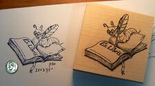 P30 Ex-Libris Book worm rubber stamp WM