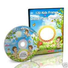 120 HIGH QUALITY KIDS FRAMES GRAPHIC TEMPLATES on DVD
