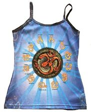 OM AUM Mantren Shiva Hindu Karma Goa DJane Tattoo Art Designer WoW TOP SHIRT M/L