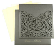 Personalized  Printing Card , Laser Cut Wedding Invitation Cards with Envelopes