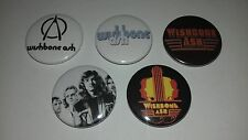 5 Wishbone Ash button badges 25mm Pilgrimage Four Argus Thin Lizzy