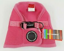 "NEW- Puppia Dog Puppy Pink Mesh Harness Soft Vest Med Chest 14""-15"""