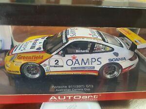 1:18 Autoart Jim Richards Porsche 911(997)GT3 2006 Australian Carrera Cup