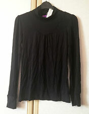 M&S Limited Collection Girls Black Long Sleeve Turtle Neck Top Age 12 BNWT
