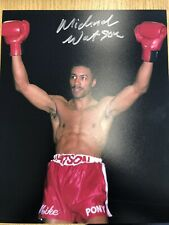 Michael Watson Signed Photograph With Photo Proof