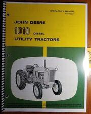John Deere 1010 Diesel Utility Tractor S/N -31000 Operator Manual Om-T15501 K0