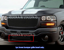 Fits 2003-2004 GMC Sierra 2500/ 2003-2006 Sierra 1500/2500HD Black Billet Grille