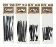 Amish Made Straight Heavy Duty Assorted Stainless Steel Hairpins  4 PACKS
