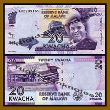 Malawi 20 Kwacha, 2012 P-57 Unc