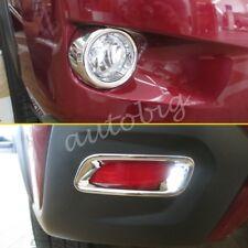 Front + Rear Fog Light Cover For Subaru XV Crosstrek 2013-2015 Bumper Reflector